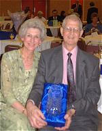 Dave and Valerie Deadman with the award