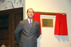 HRH Prince Edward unveiled the plaque to open the hall