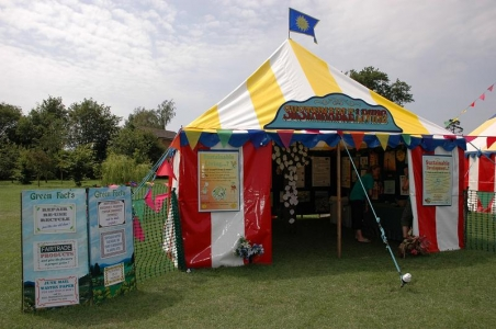 The Sustainable Living tent