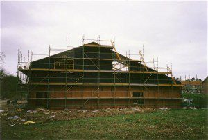 The hall under construction