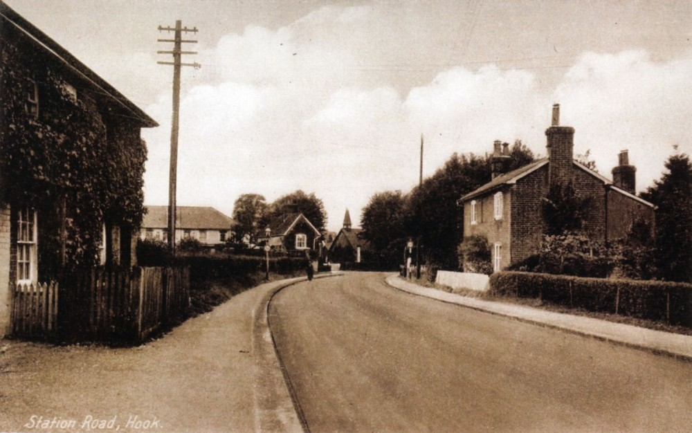 Station Road, Hook, looking towards the Tin Church