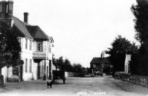 The White Hart and village centre