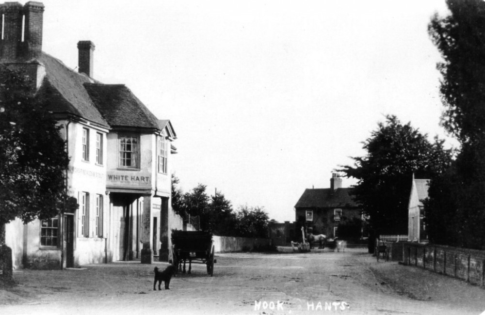 The White Hart, looking towards the village centre