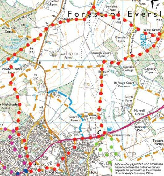 Map for Walk A