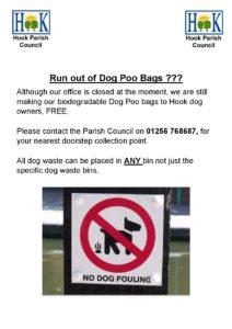 Dog poo bag pick up point poster