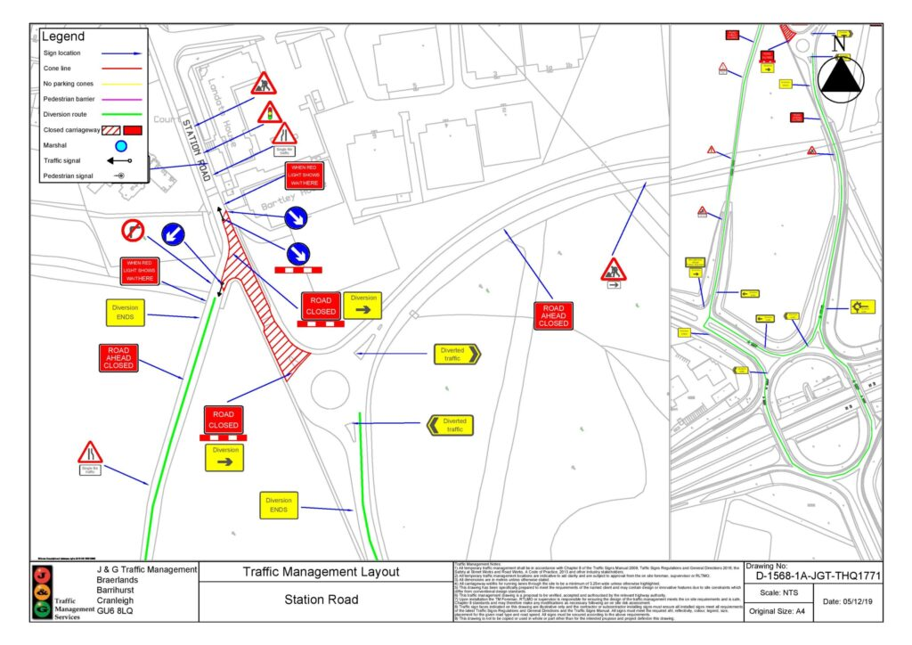 Diagram detailing where the road closure is on Station Road on the 26th June 2021